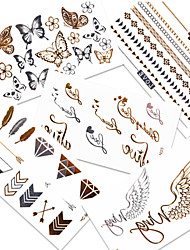 GOODTURN Tattoo Stickers Non Toxic/Lower Back/Waterproof Others /Teen Multicolored Paper 5 10*6 Metal