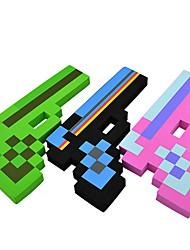 8 bit pixelate minecraft forma esclusiva pistola diamante schiuma eva arma giocattolo