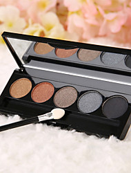 5 Colors Smoky Eyeshadow Cosmetic Palette Applicator(6 Selectable Colors)