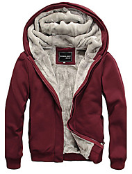 Weety Men's Hoodie Coats & Jackets , Cotton Blend Long Sleeve Casual/Work Fashion Fall Weety