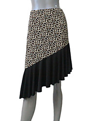 Nylon/Lycra Leopard Latin Skirts for Ladies and Girls