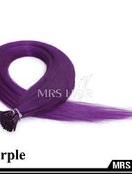 "20 ""purple Fancy Color Stick i tip remy Menschenhaarverlängerungen 0.8g / pc 100pcs vor-verbundenes Haar"