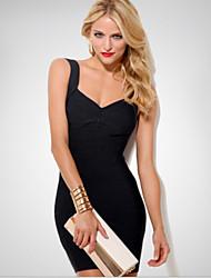 Women's Straps Dresses , Chiffon Sexy/Casual Sleeveless YaYiGe