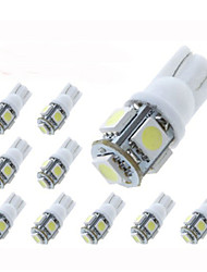 lorcoo ™ 10 pezzi T10 1.5w 5x5050smd 100-120lm 6000k luce bianca fredda ha condotto la lampadina