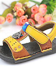 Baby Shoes Casual Leather Sandals Blue/Yellow
