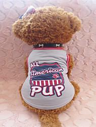 T-shirt für Hunde Grau Sommer XXS / XS / S Baumwolle