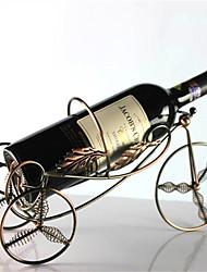 tabela de armazenamento barra de metal com mola de 4 rodas em forma de suporte para garrafa de vinho rack de suporte (cor aleatória)