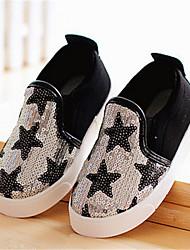 Zapatos de bebé - Sneakers a la Moda - Casual - Tela - Negro / Plata