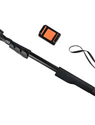 inalámbrico de alta calidad de aluminio monopie zoom selfie pegue tamaño stick de mano plegable: 49x5.5x4.5cm