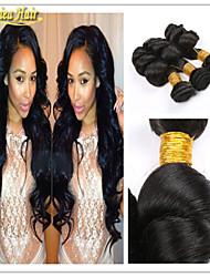 3pcs / caliente Venta de productos para el cabello 8a color natural montón brasileño virginal flojo de la onda del pelo humano 3 pcs trama