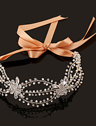Women's/ Rhinestone/Imitation Pearl Flower Headpiece Handmake - Wedding/Special Occasion Hair Combs 1 Piece Silver