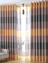 Two Panels Europe  Elegant Fashion High-Grade Flax Sitting Room The Bedroom Curtains