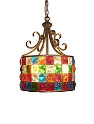 BOXOMIYA® European Style Garden, American Style Garden, American Colored Glass Lamp, 38 Cm in Diameter.