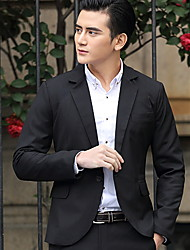 Men's Long Sleeve Pure Color Leisure Suit(not contain the pants)
