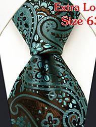 pxl17 shlax&Flügel extra lang Größe Männer-Riegel-Krawatte Paisley-Türkis grüner Seide