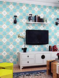 novo padrão papel de parede xadrez art deco revestimento de parede do arco-íris ™, art deco papel não-tecido