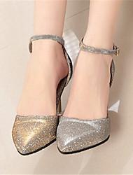 Stiletto - 6-9cm - Damenschuhe - Pumps/Heels ( PU , Gold / Silber )