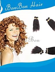 cabelo humano malaio tecendo 4pcs cacheados excêntricas
