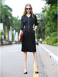 Women's Casual Short Sleeve Knee-length Elegant Dress
