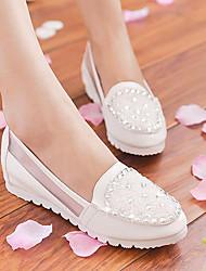 Zapatos de mujer Tul Tacón Cuña Bailarina Mocasines Exterior/Casual Azul/Rosa/Blanco
