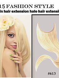 """1pc / lot Flip in der Haarverlängerung 8 """"-34"""" # 1b, # 2, # 8, # 16, # 27, # 30, # 613 Menschenhaarverlängerung brasilianische reine"""