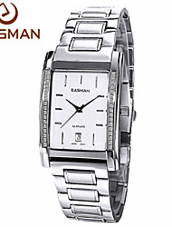 EASMAn Brand Men Watches Men Business Zircon Silver Sapphire Calendar Quartz Watch Wristwatches 2015 New Watches For Men