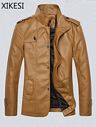 Men's Long Sleeve Jacket , PU Casual Pure XKS8A14