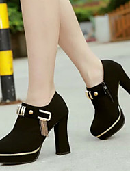 Women's Shoes  Europe Style  Low Heel Tassels Fashion Pointed Toe Bootie/Comfort Boots Office & Career/Dress Black