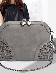 Handcee® Hot Selling Woman PU Bag Metal Rivet Crossbody Bag