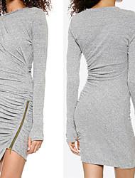 Women's Dresses , Knitwear/Viscose Sexy/Bodycon/Casual Long Sleeve K.M.S