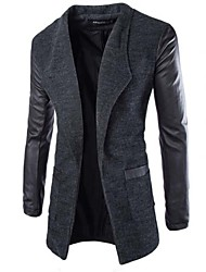 Men's Long Sleeve Long Trench coat , Cotton Blend Pure