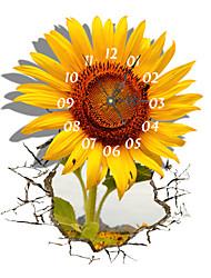 PAG®Modern Design 3D Effect Sunflower Pattern Clock Sticker 14.96*18.30 in