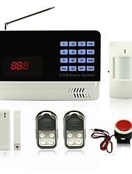LCD Dispaly Learning Code GSM Alarm System With Wired And Wireless Zones