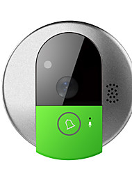 WiFi Video Door Phone Door Intercom Doorbell Camera with Mobile Apps, HD 720P and TF card memory