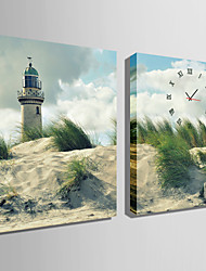 E-HOME® A Beacon of Land Clock in Canvas 2pcs