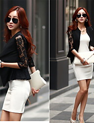 Women's Pan Collar Coats & Jackets , Lace/Polyester Sexy/Lace/Work ¾ Sleeve Retro