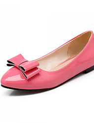 Women's Shoes Patent Leather Flat Heel Ballerina Loafers Office & Career/Casual Black/Yellow/Pink/Red/White