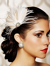 Hand Made Wedding Feather Hair Clip Fascinator Headpieces Fascinators 039
