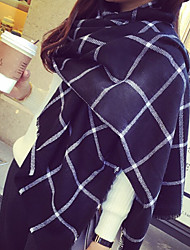 Black And White Check Cashmere Scarf