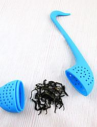 belle cygne silicone en forme de thé infuseur suspension (couleur aléatoire)