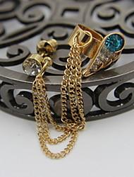 Damen / Herren Ear Piercing Aleación / Strass / versilbert Golden / Silber Schmuck,1pc