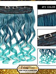 resistencia a altas temperaturas ombre piezas de pelo de 24 pulgadas de extensión peluca de 5 clips 16 colores f2 disponibles