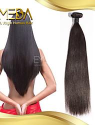 birmans soie cheveux vierges droites extensions de cheveux humains de haute qualité 1pcs naturel noir 8 '' - 30 ''
