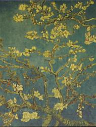 amandel van gogh schilderijen modern / botanische canvas afdrukken gicleedruk één paneel mat kraft klaar te hangen