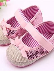 Zapatos de bebé - Planos - Casual - Tela - Rosa / Rojo