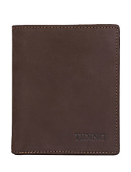 Men's Genuine Leather Short Wallet British School of Wind Youth Wallet