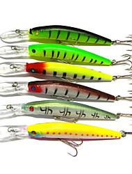 """6pcs pcs Fretin / leurres de pêche Fretin Others 14.7g g/1/2 Once mm/5-9/16"""" pouce,Plastique durPêche en mer / Pêche d'eau douce / Pêche"""