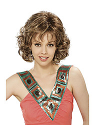 Top Quality Fashion Middle Long Wavy Wig Woman's Synthetic Wigs Hair