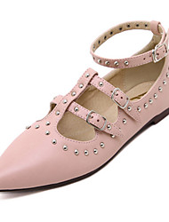 Women's Shoes   Flat Heel Pointed Toe Flats Casual Black/Pink