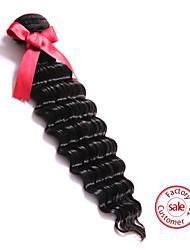 "EVET Human Hair Weave 6A Top Grade Hair Bundles Brazilian Virgin Hair Weft 1pc 100g/pc Natural Color 8""-22"""
